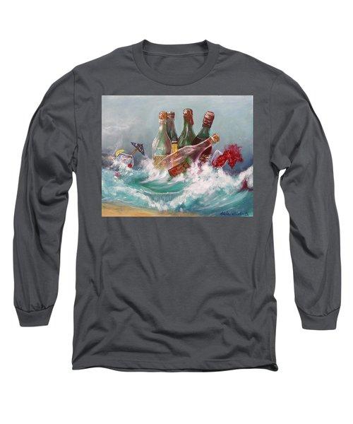 Splattered Wine Long Sleeve T-Shirt