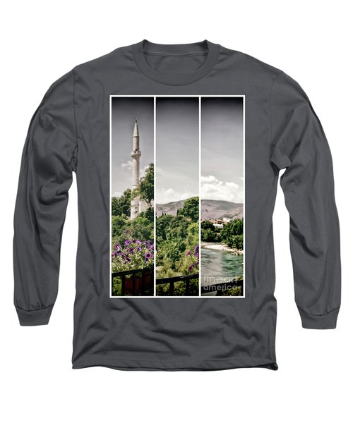 Split Landscape Long Sleeve T-Shirt by Ana Mireles