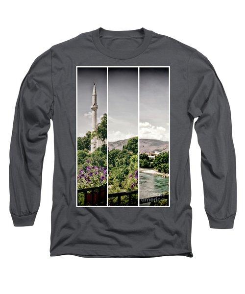 Split Landscape Long Sleeve T-Shirt