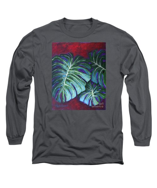 Split Leaf Philodendron Long Sleeve T-Shirt by Phyllis Howard