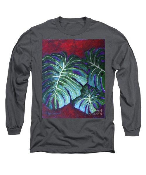 Split Leaf Philodendron Long Sleeve T-Shirt