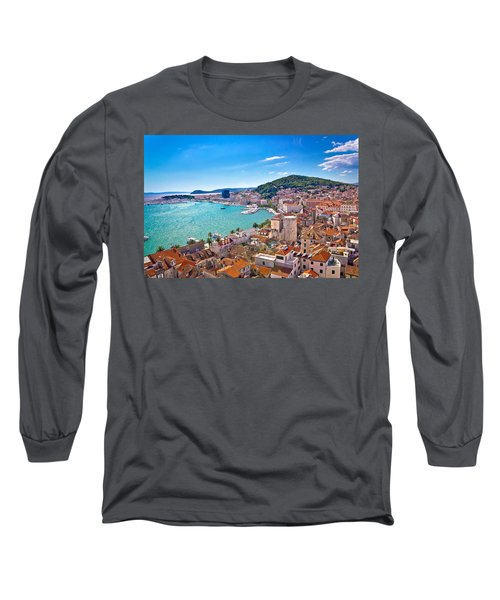 Split Waterfront And Marjan Hill View Long Sleeve T-Shirt