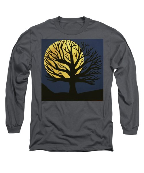 Spooky Tree Yellow Long Sleeve T-Shirt