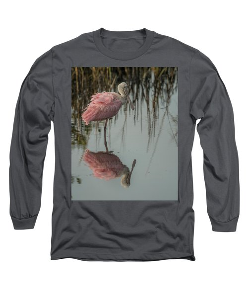 Spoonbill Long Sleeve T-Shirt by Dorothy Cunningham