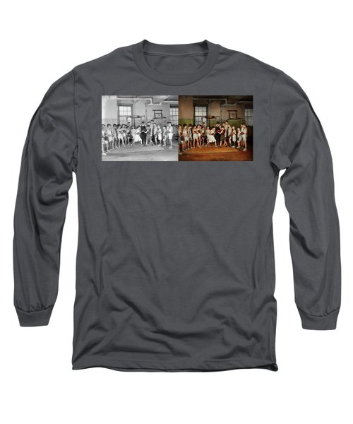 Long Sleeve T-Shirt featuring the photograph Sport - Boxing - Fists Of Fury 1924 - Side By Side by Mike Savad