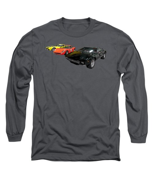 Sports Car In A Row Art Long Sleeve T-Shirt