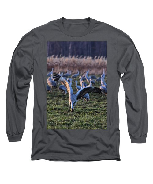 Spread Your Wings Long Sleeve T-Shirt by Shari Jardina