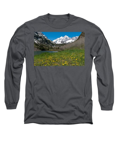 Spring At The Maroon Bells Long Sleeve T-Shirt