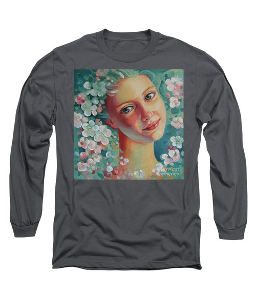 Long Sleeve T-Shirt featuring the painting Spring B by Elena Oleniuc