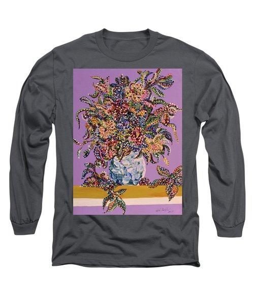 Spring Bouquet  Long Sleeve T-Shirt by Erika Pochybova