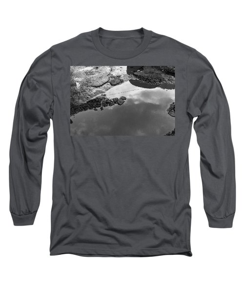 Spring Clouds Puddle Reflection Long Sleeve T-Shirt