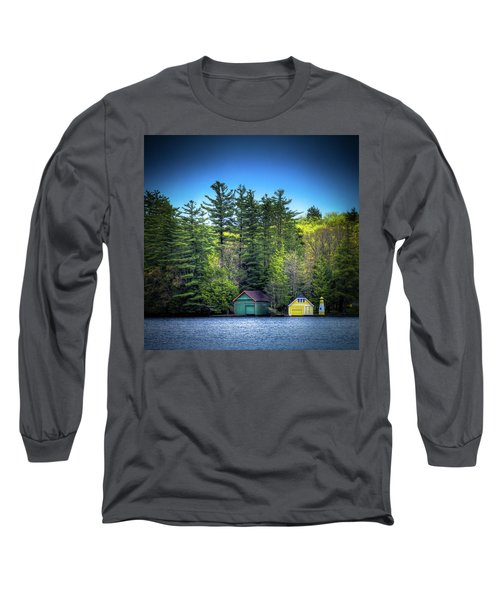 Spring Day At Old Forge Pond Long Sleeve T-Shirt by David Patterson
