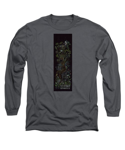 Long Sleeve T-Shirt featuring the drawing Spring Dryad by Dawn Fairies