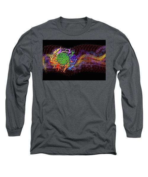 Spring Explodes Nighttime Long Sleeve T-Shirt