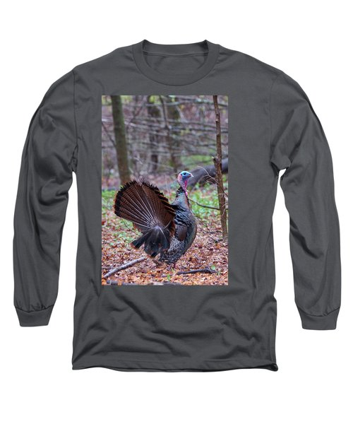 Long Sleeve T-Shirt featuring the photograph Spring Gobbler by Bill Wakeley