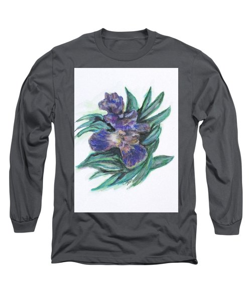 Spring Iris Bloom Long Sleeve T-Shirt by Clyde J Kell