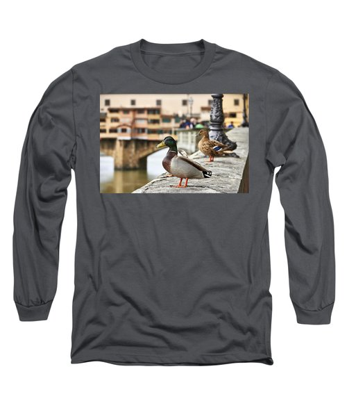 Spring Love Ducks Long Sleeve T-Shirt