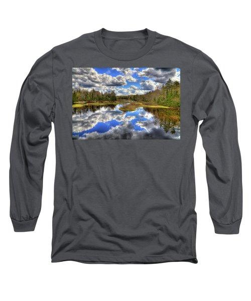 Spring Morning At The Green Bridge Long Sleeve T-Shirt by David Patterson