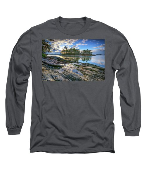 Spring Morning At Wolfe's Neck Woods Long Sleeve T-Shirt