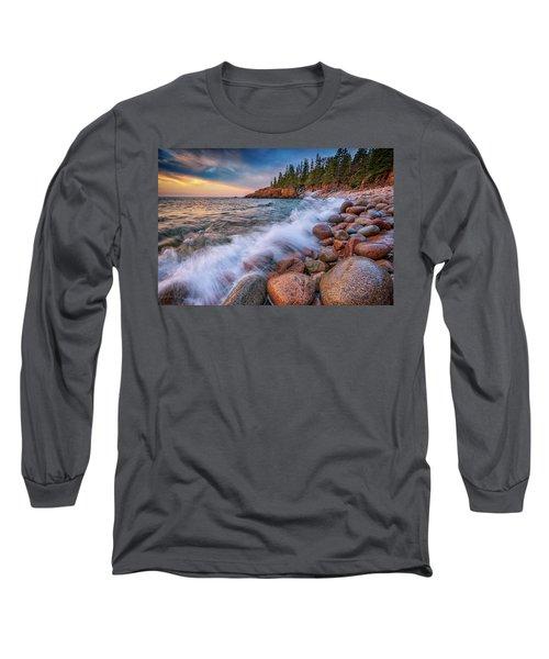 Spring Morning In Acadia National Park Long Sleeve T-Shirt by Rick Berk