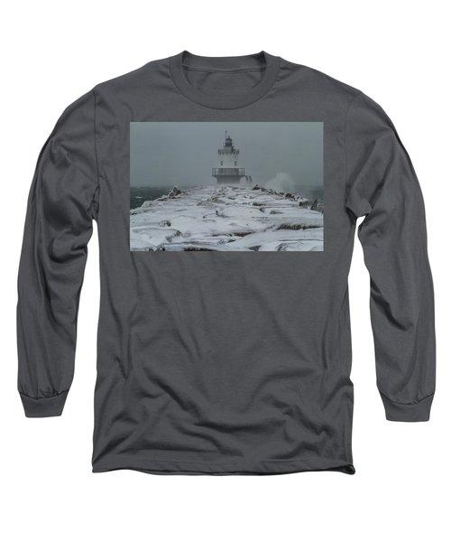 Spring Point Ledge Light Blizzard  Long Sleeve T-Shirt