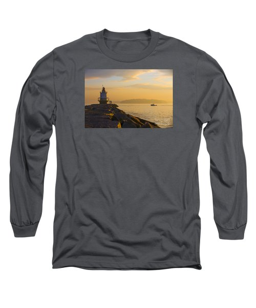 Spring Point Lighthouse At Dawn. Long Sleeve T-Shirt by Diane Diederich