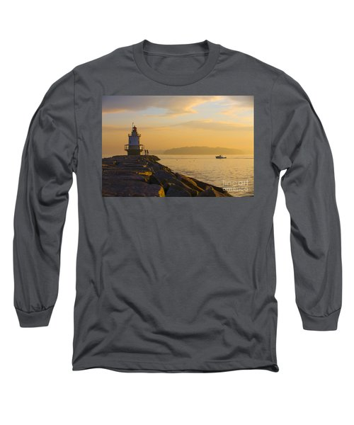 Spring Point Lighthouse At Dawn. Long Sleeve T-Shirt