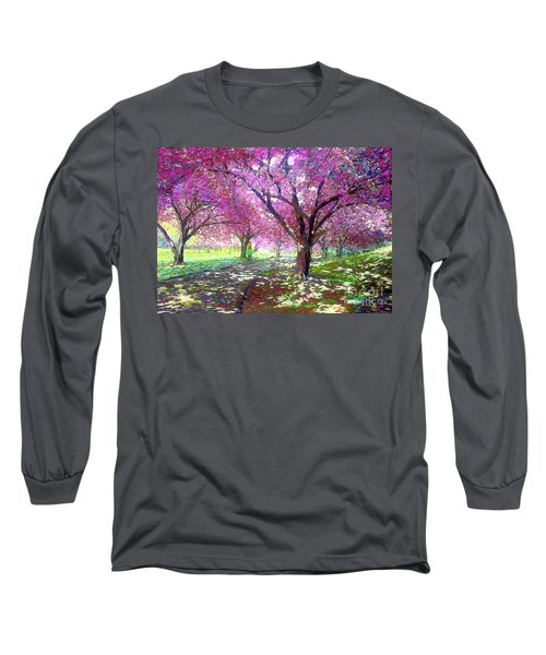 Spring Rhapsody, Happiness And Cherry Blossom Trees Long Sleeve T-Shirt