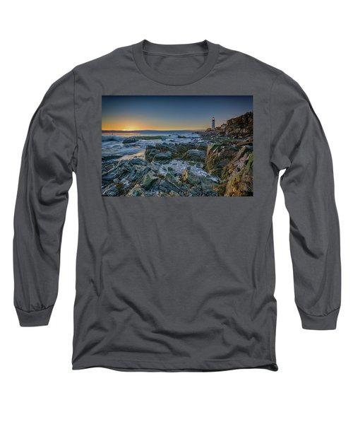 Spring Sunrise At Portland Head Long Sleeve T-Shirt