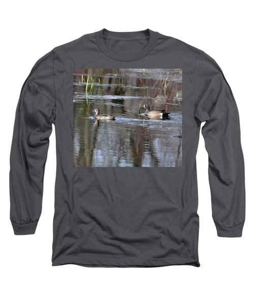 Spring Teal Long Sleeve T-Shirt