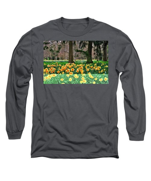 Spring Woodland Daffodils Long Sleeve T-Shirt