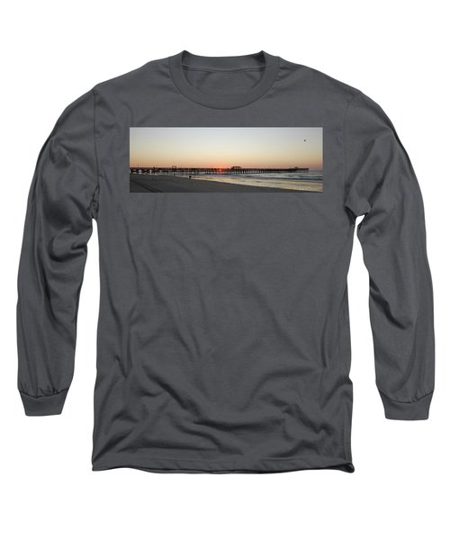 Springmaid Pier Sunrise Long Sleeve T-Shirt by Gordon Mooneyhan