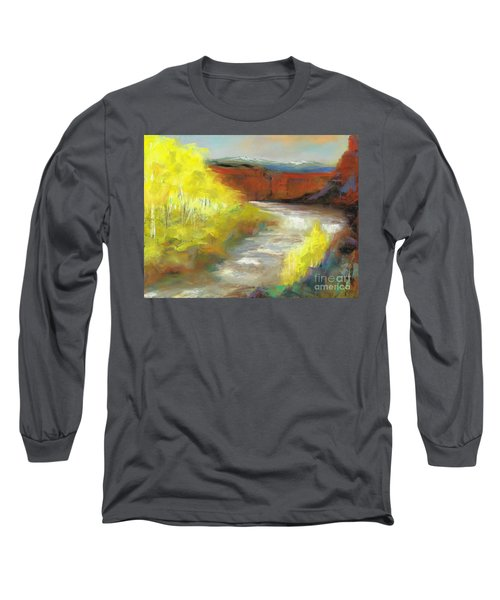 Long Sleeve T-Shirt featuring the painting Springtime In The Rockies by Frances Marino