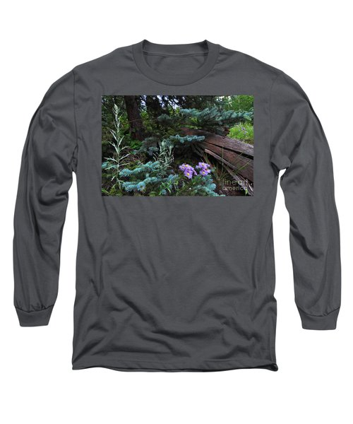 Spruced Up Asters Long Sleeve T-Shirt