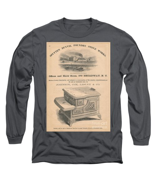 Long Sleeve T-Shirt featuring the photograph Spuyten Duyvil Stoveworks  by Cole Thompson