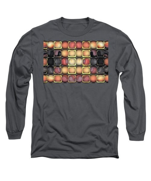 Square Holes Round Pegs Long Sleeve T-Shirt by Wendy J St Christopher