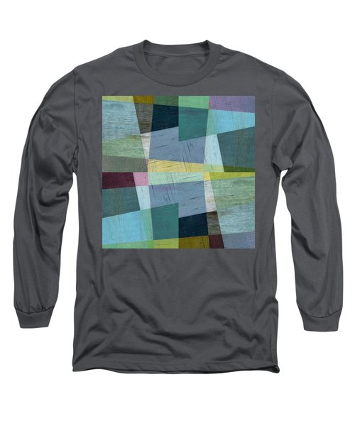 Long Sleeve T-Shirt featuring the digital art Squares And Shims by Michelle Calkins