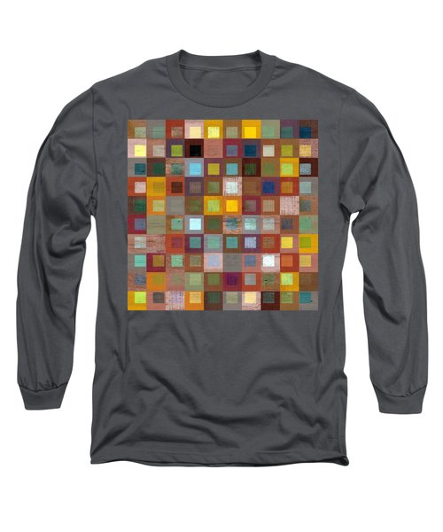 Squares In Squares Four Long Sleeve T-Shirt by Michelle Calkins