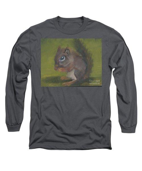 Squirrel Long Sleeve T-Shirt by Jessmyne Stephenson