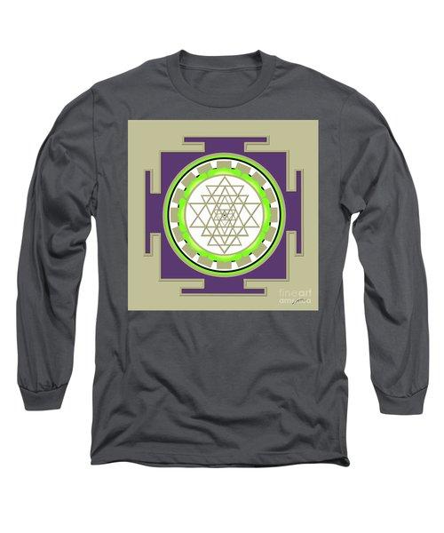 Sri Yantra Of Prosperity Long Sleeve T-Shirt