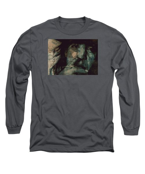 Long Sleeve T-Shirt featuring the painting SRV by Paul Lovering