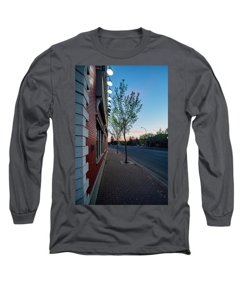 Long Sleeve T-Shirt featuring the photograph St. Anne Street At Dusk by Darcy Michaelchuk