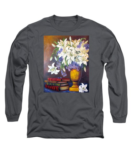St. Anthony's Lilies Long Sleeve T-Shirt by Katia Aho