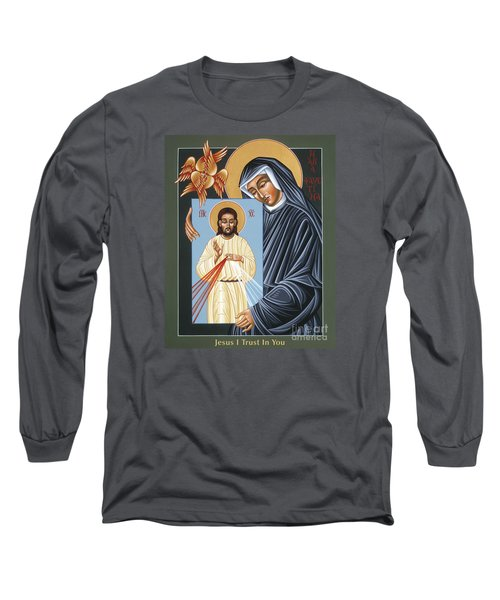 St Faustina Kowalska Apostle Of Divine Mercy 094 Long Sleeve T-Shirt