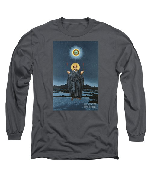 St. Ignatius In Prayer Beneath The Stars 137 Long Sleeve T-Shirt by William Hart McNichols