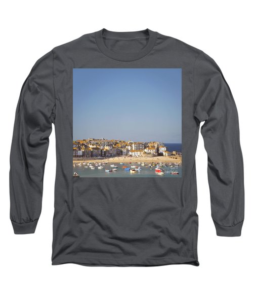 Long Sleeve T-Shirt featuring the photograph St Ives Harbour by Lyn Randle