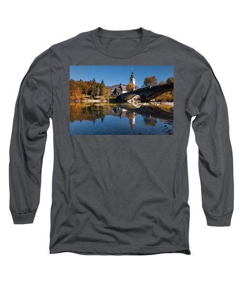 St. John The Baptist On The Lake Bohinj Long Sleeve T-Shirt
