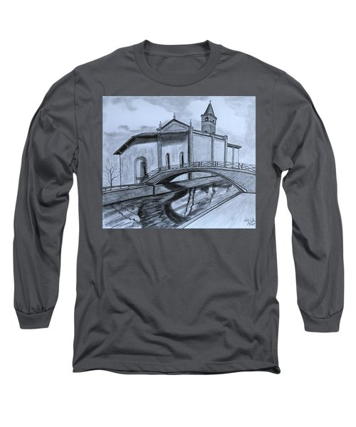 St. Jules Cathedral  Long Sleeve T-Shirt by Tony Clark