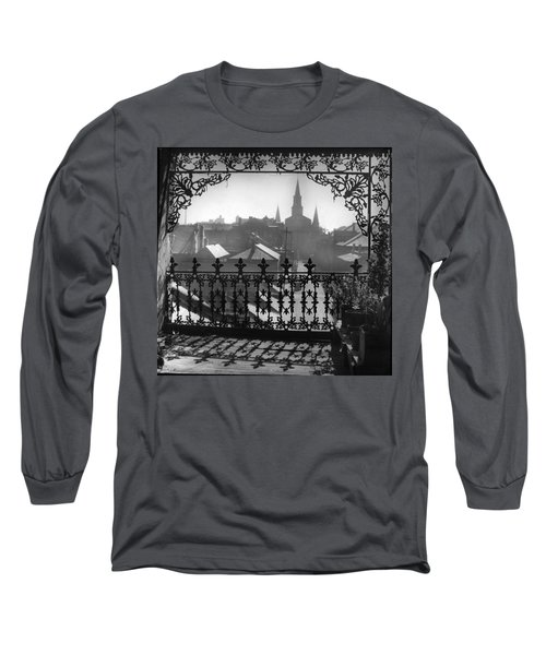 St Louis Cathedral In Frame Long Sleeve T-Shirt