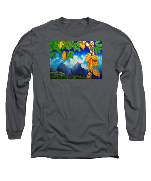 St. Lucia Cocoa Long Sleeve T-Shirt
